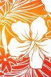 画像3: ポリコットン総柄(グラデーションハイビスカス/オレンジ・レッド) (3)
